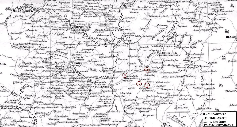 карта рязанской губернии 18 века Нижнем